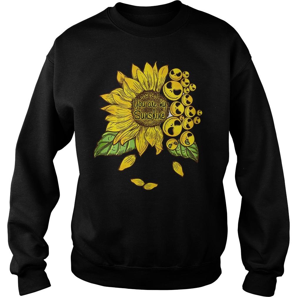 Jack Skellington sunflower you are my sunshine Sweater