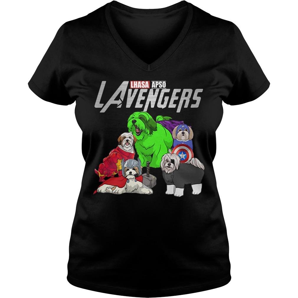 LAvengers Lhasa Apso V-neck T-shirt