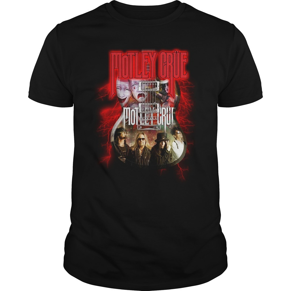 Led Zeppelin Motley Crue guitar Guys shirt