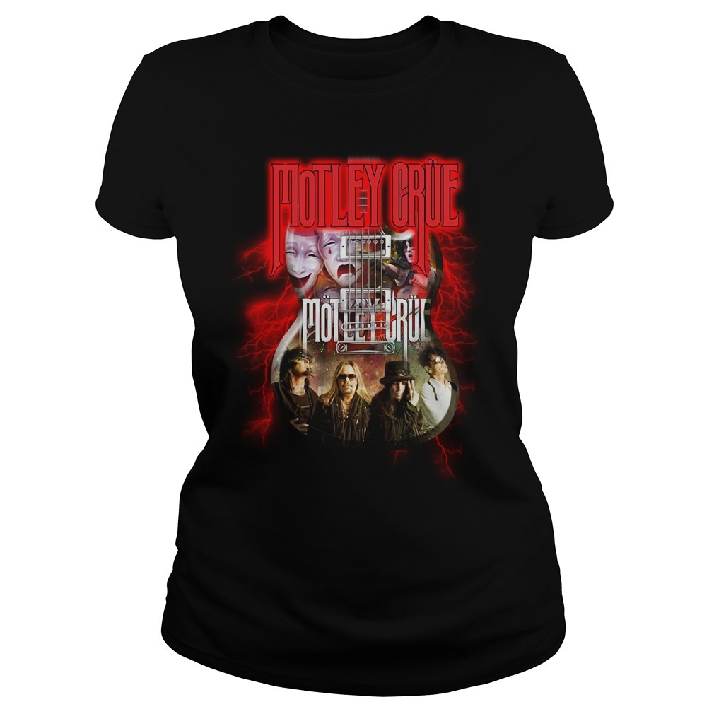 Led Zeppelin Motley Crue guitar Ladies Tee