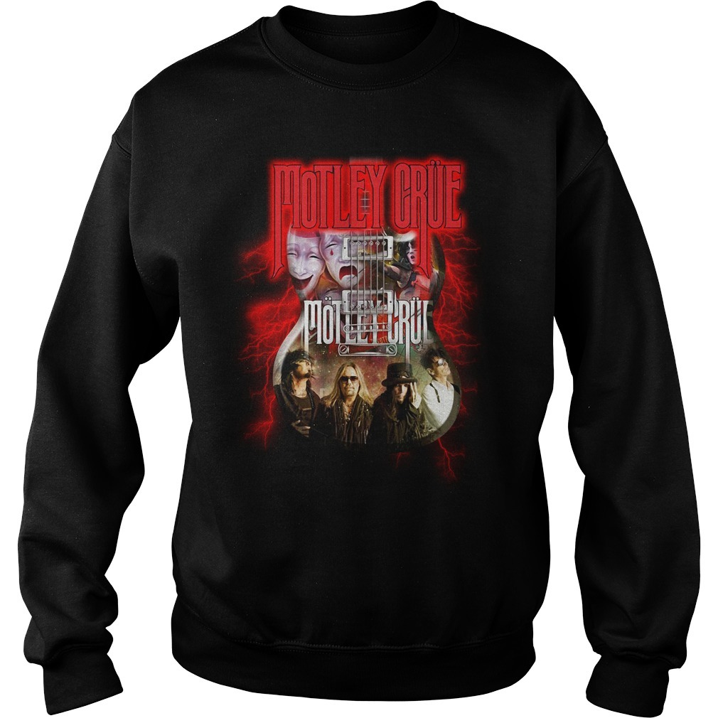 Led Zeppelin Motley Crue guitar Sweater
