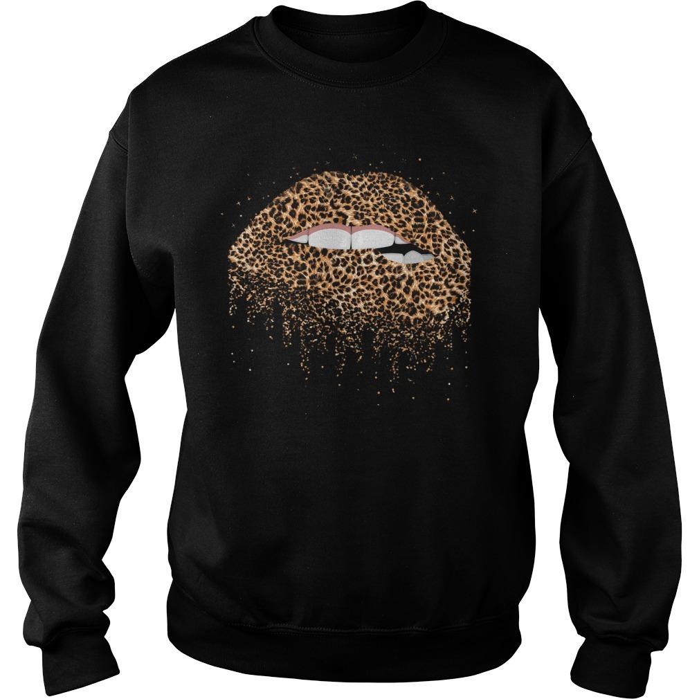 Leopard lips Sweater