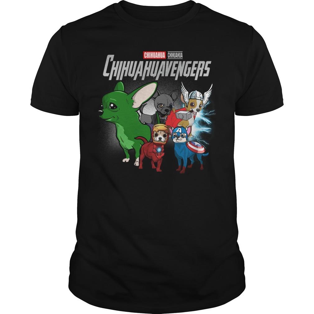Marvel Avenger endgame Chihuahua Chihuahuavengers Guys shirt
