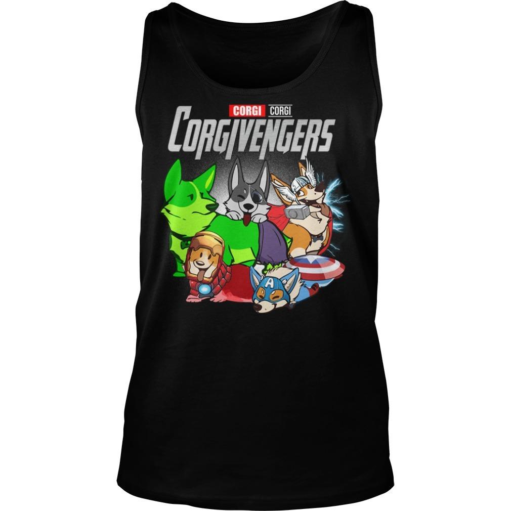 Marvel Avenger endgame Corgi Corgivengers Tank top
