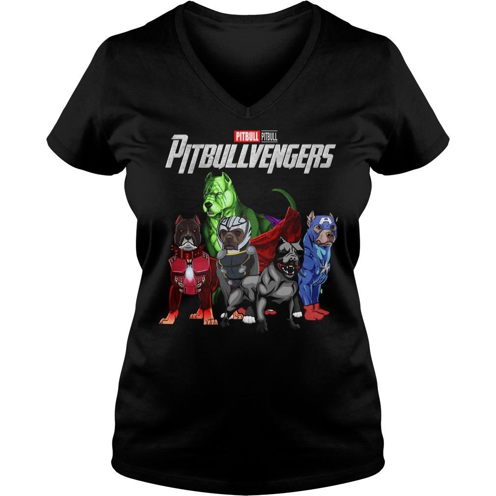 Marvel Avenger endgame pitbull pitbullvengers V-neck T-shirt