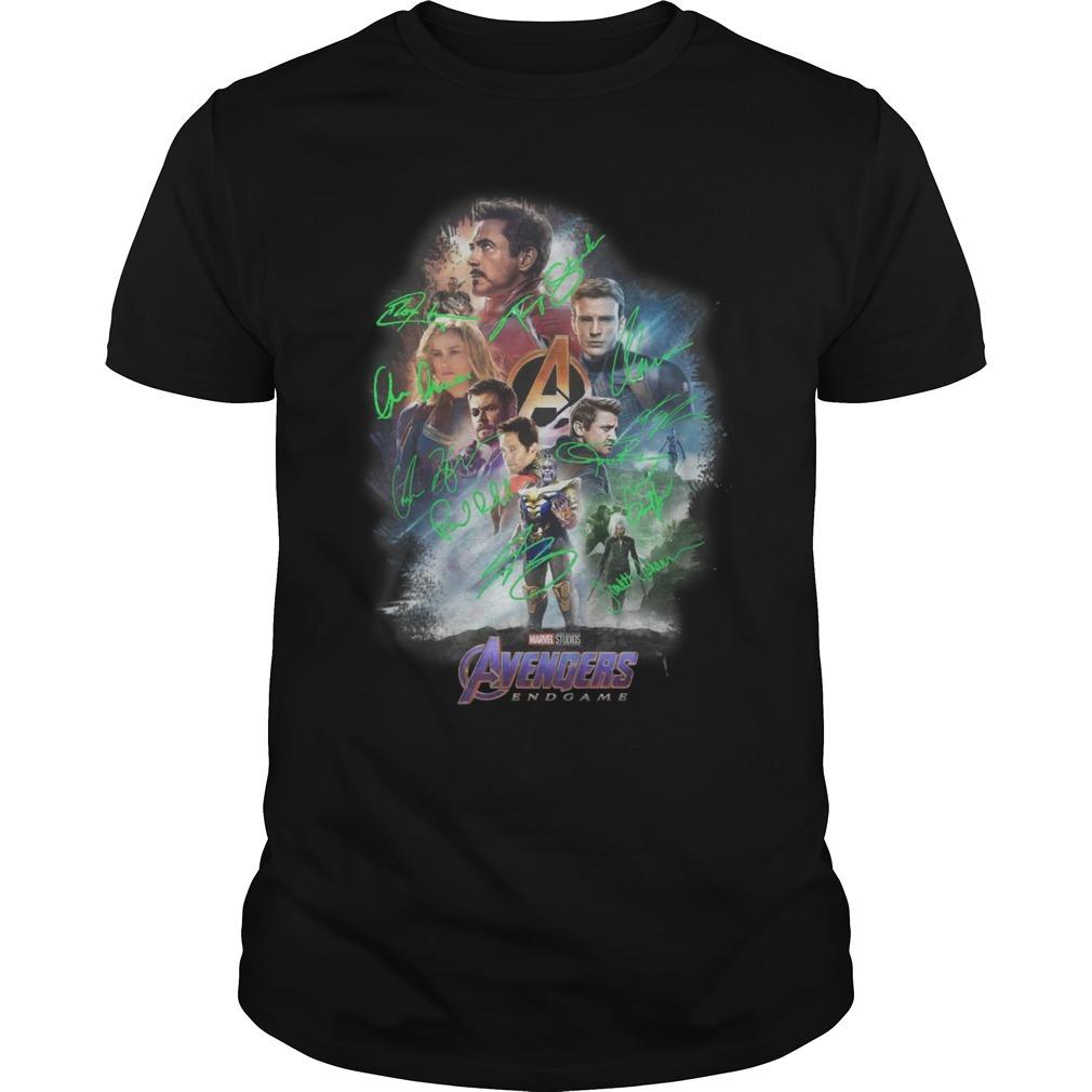 Marvel Avenger endgame poster signature Guys shirt