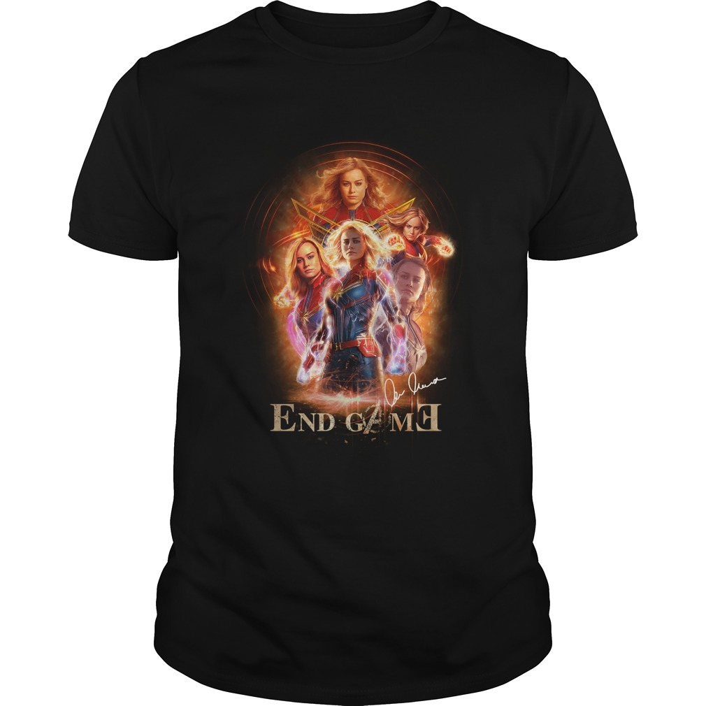 Marvel Avengers endgame Captain Marvel signature Guys shirt