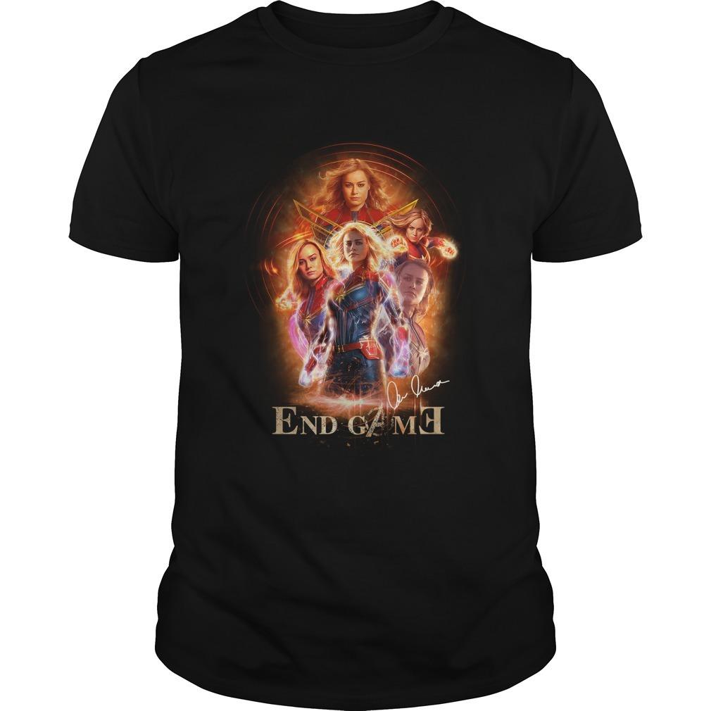 Marvel Avengers endgame Captain Marvel signature Guys shirt