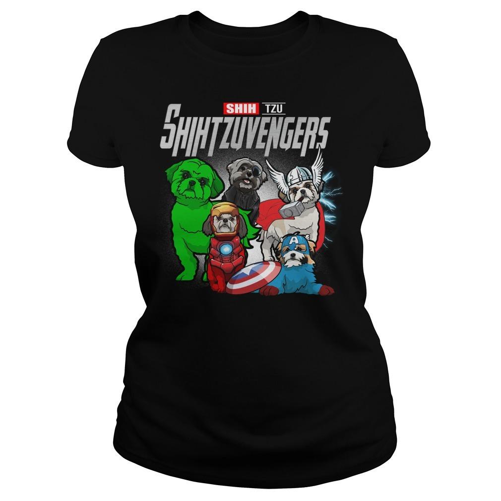 Marvel Avengers endgame Shih Tzu Shihtzuvengers Ladies Tee