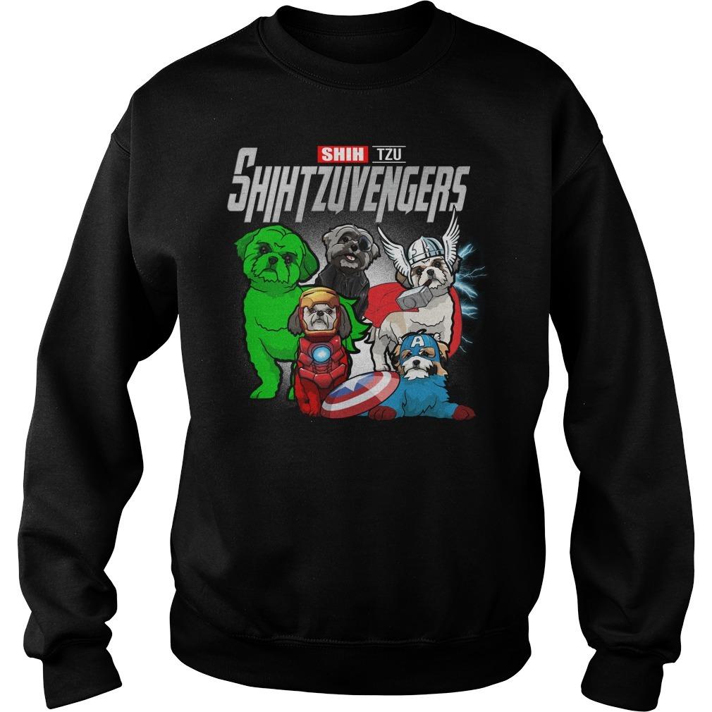 Marvel Avengers endgame Shih Tzu Shihtzuvengers Sweater