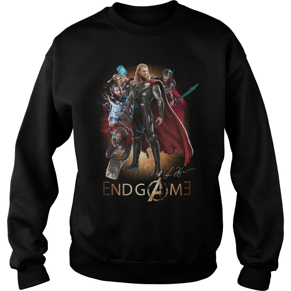 Marvel Avengers endgame Thor Odinson signature Sweater