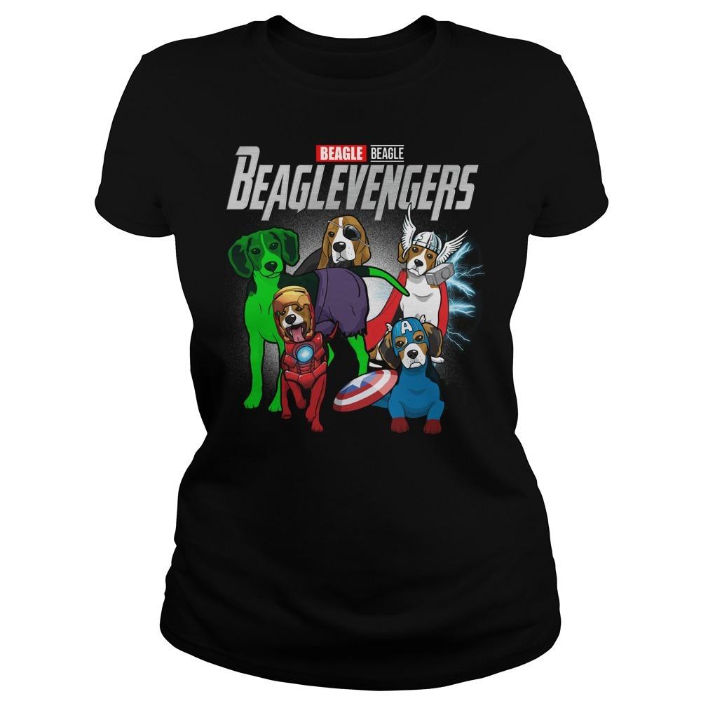 Marvel Beagle Beaglevengers Ladies Tee