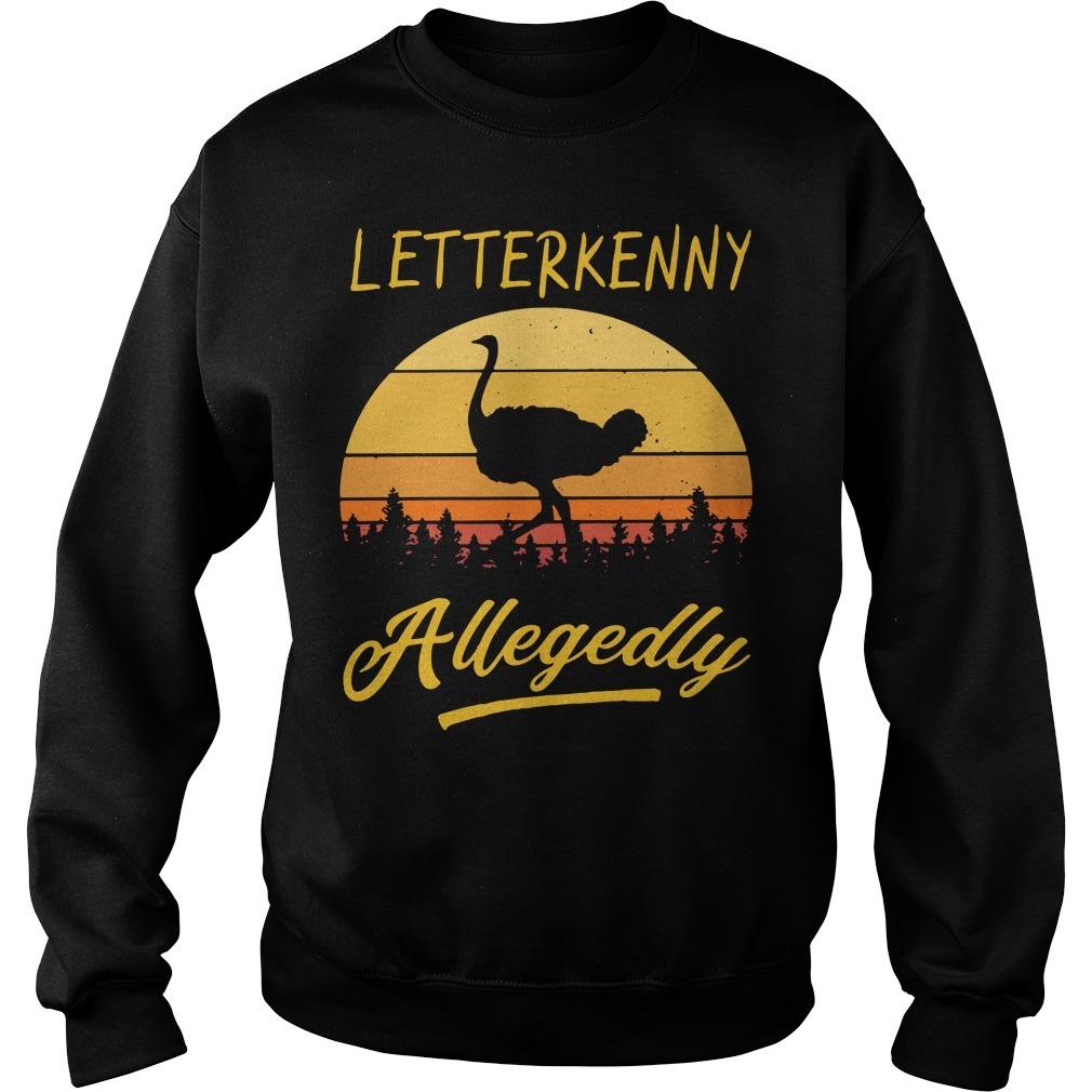 Ostrich Letterkenny allegedly vintage Sweater
