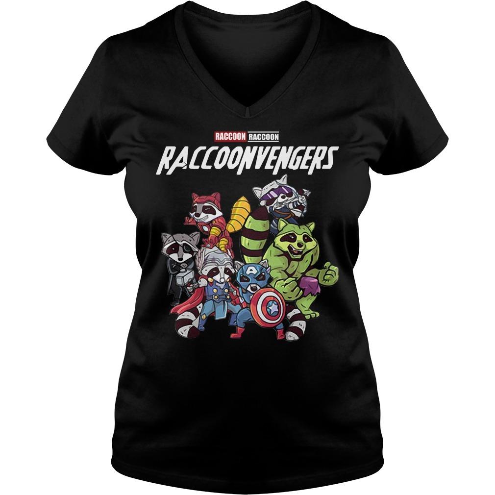 Raccoonvengers raccoon avengers  V-neck T-shirt
