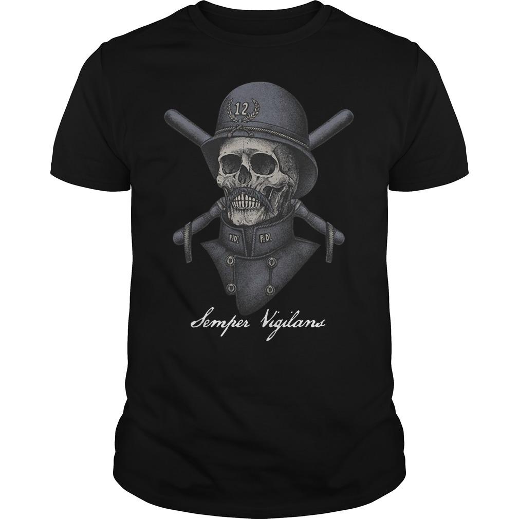 Skull infinity war Semper Vigilans Guys shirt