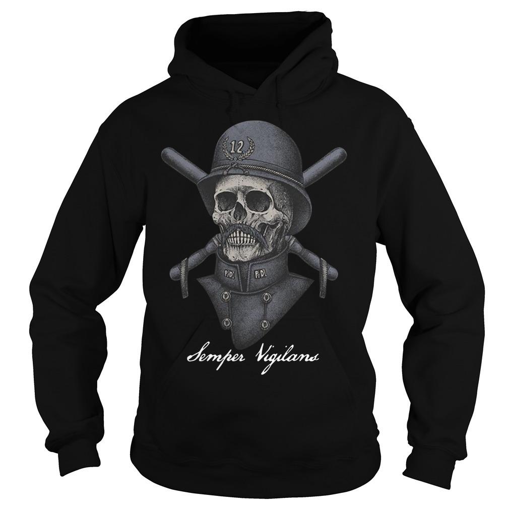 Skull infinity war Semper Vigilans Hoodie