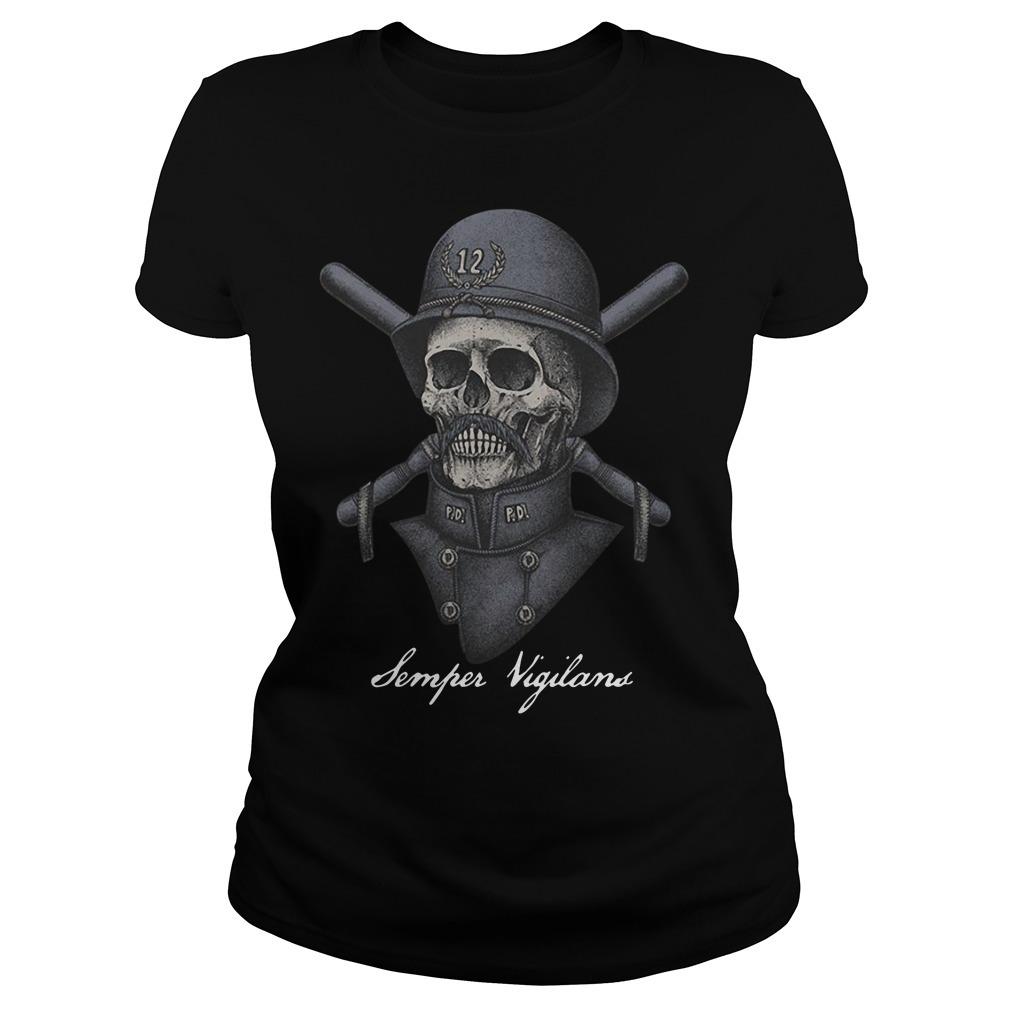 Skull infinity war Semper Vigilans Ladies Tee