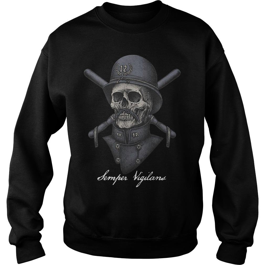 Skull infinity war Semper Vigilans Sweater