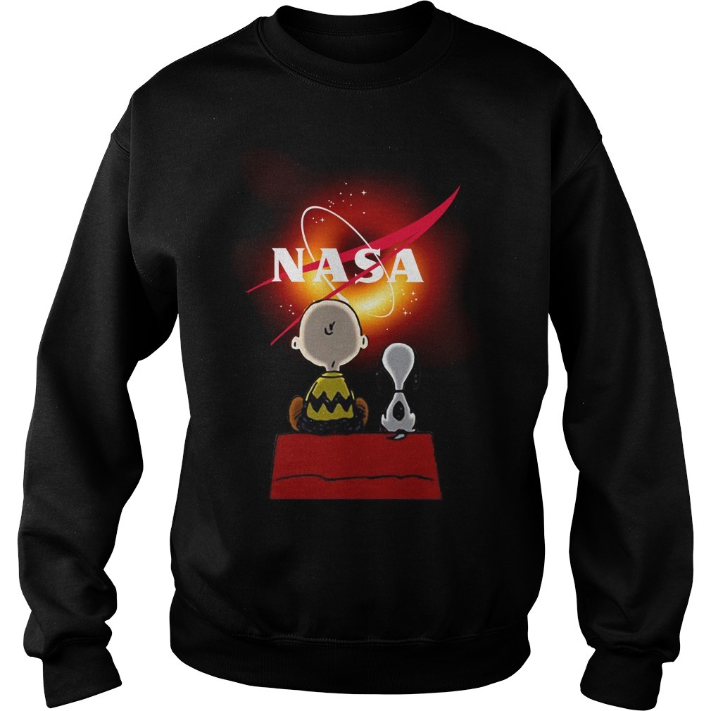 Snoopy and Charlie Brown black hole Nasa Sweater