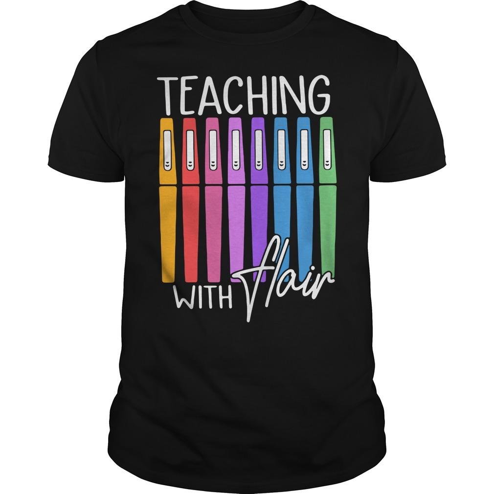 Teaching with flair Guys shirt