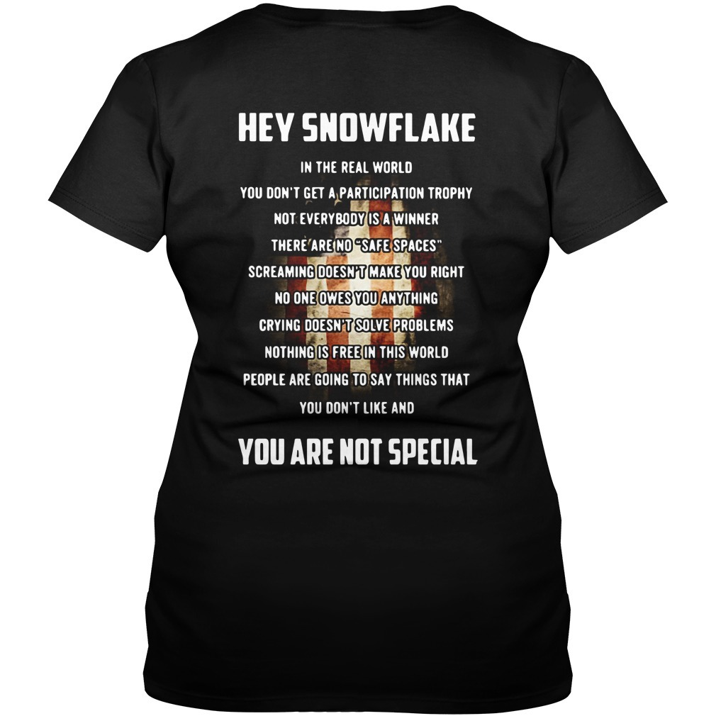 Veteran hey snowflake you are not special V-neck T-shirt