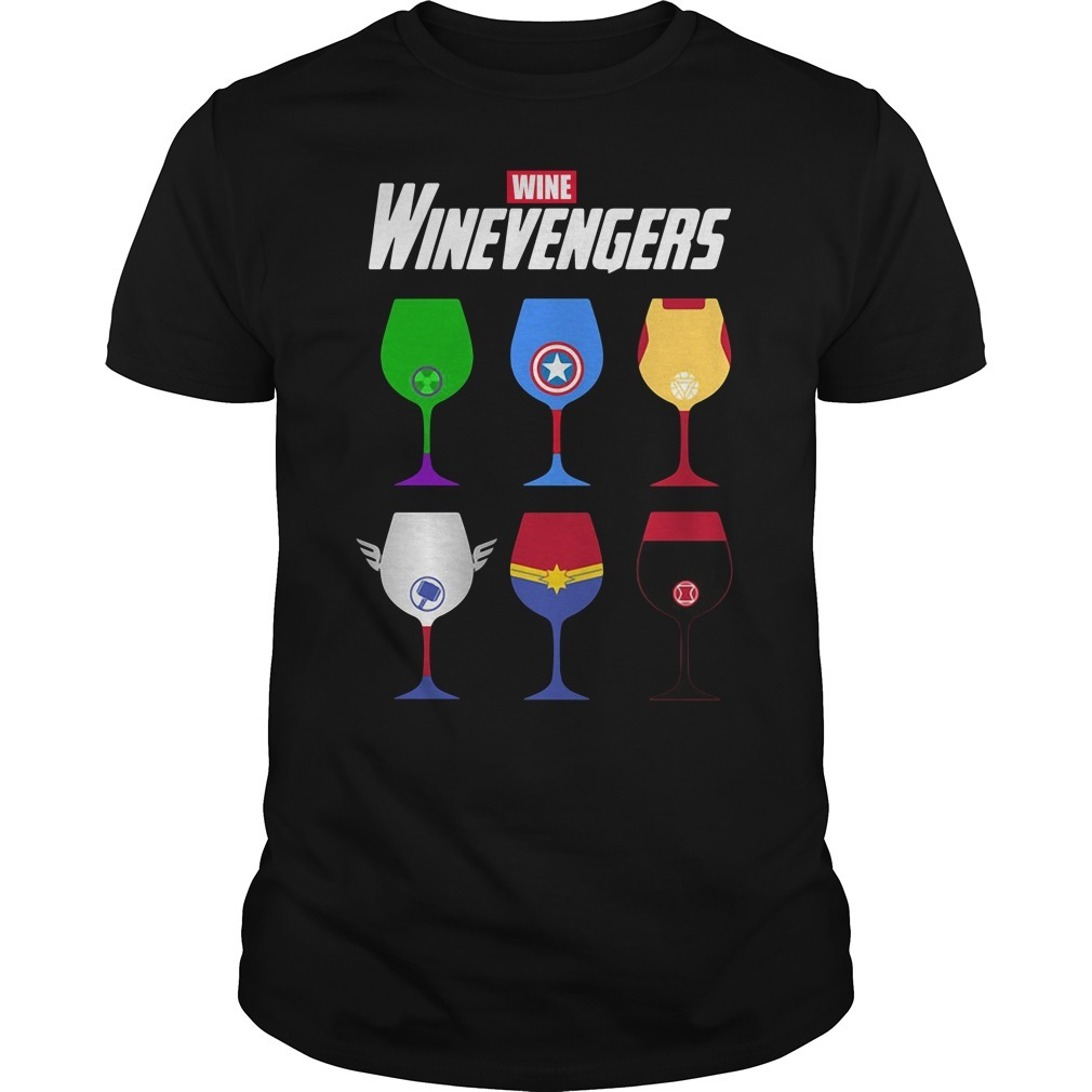 Winevengers wine Guys shirt