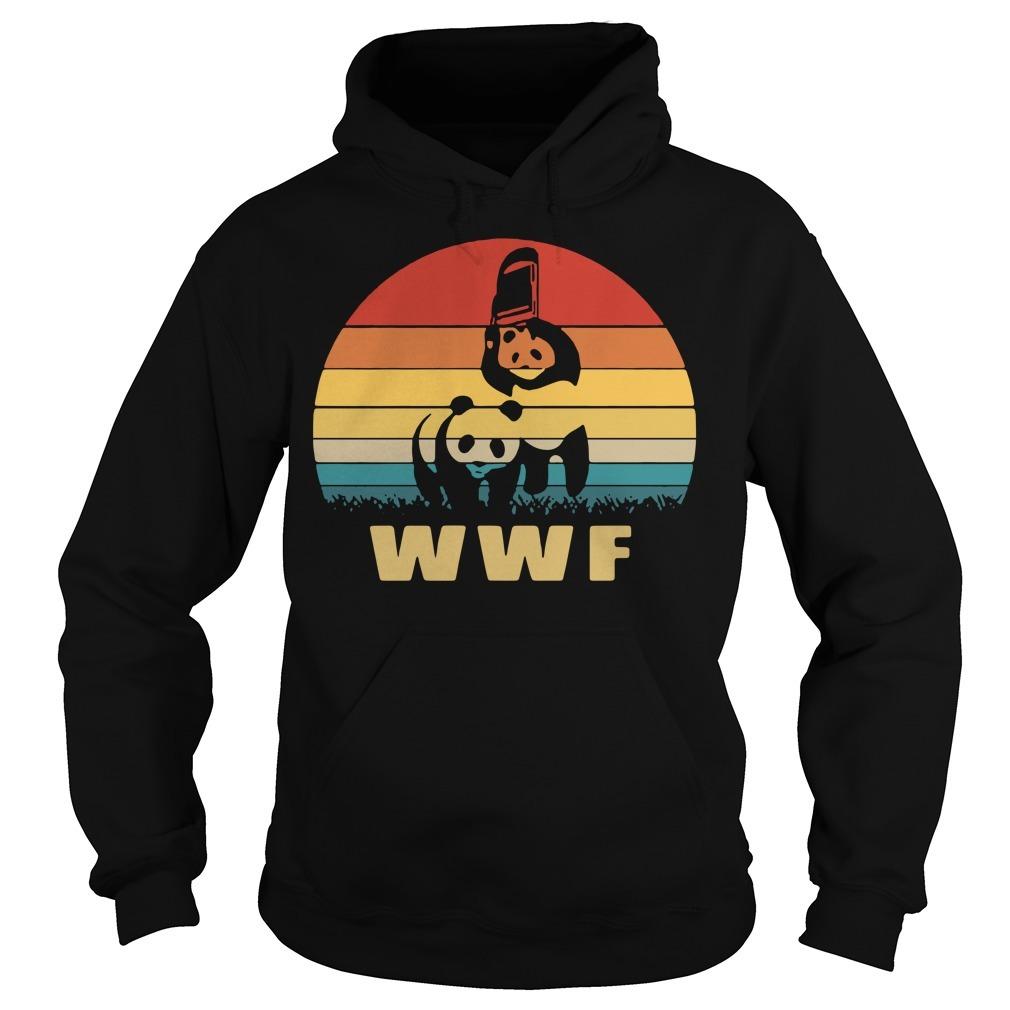 WWF wrestling panda vintage Hoodie