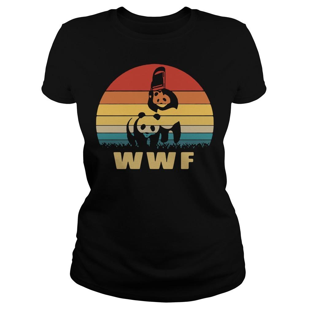 WWF wrestling panda vintage Ladies Tee