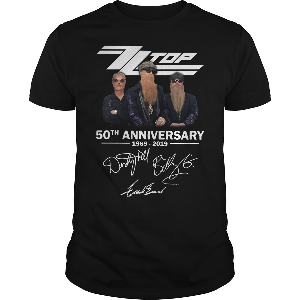Zz top 50th anniversary 1969-2019 signature Guys shirt