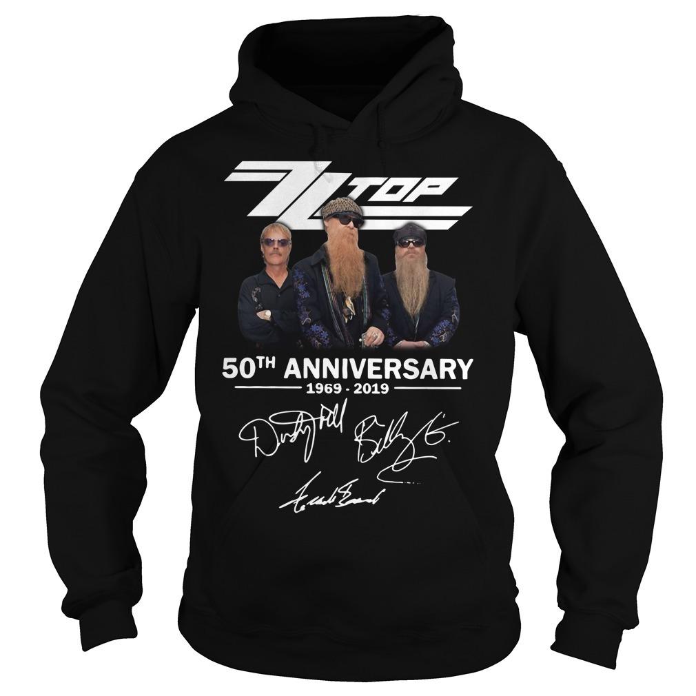 Zz top 50th anniversary 1969-2019 signature Hoodie