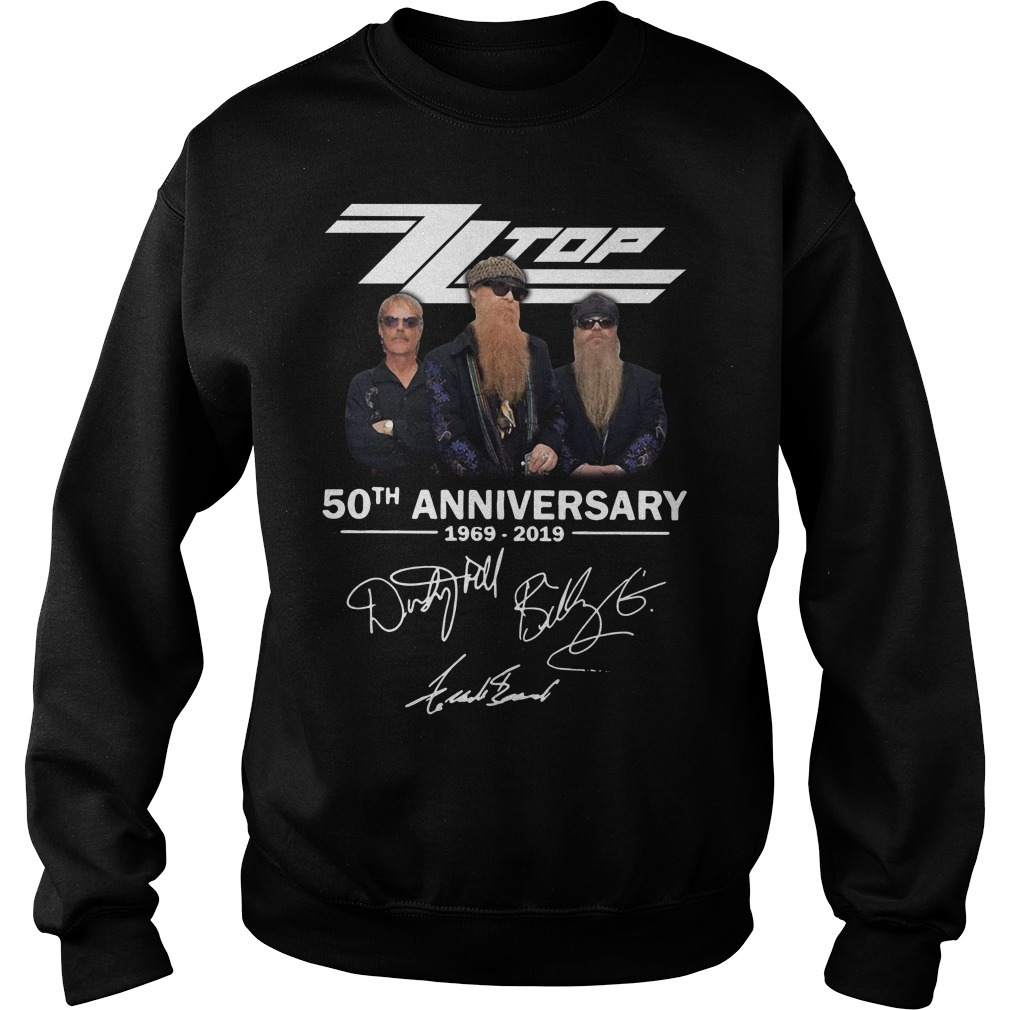 Zz top 50th anniversary 1969-2019 signature Sweater