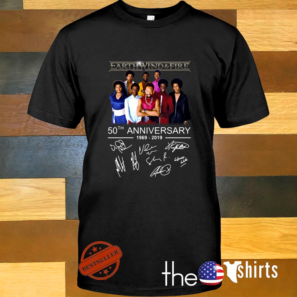 Earth wind and fire 50th anniversary 1969 2019 signature shirt