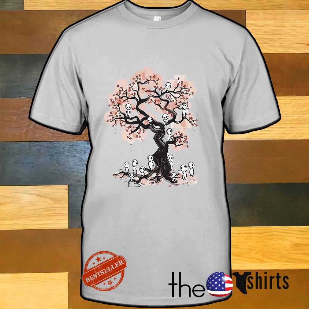 Mononoke forest spirit Sumi E shirt