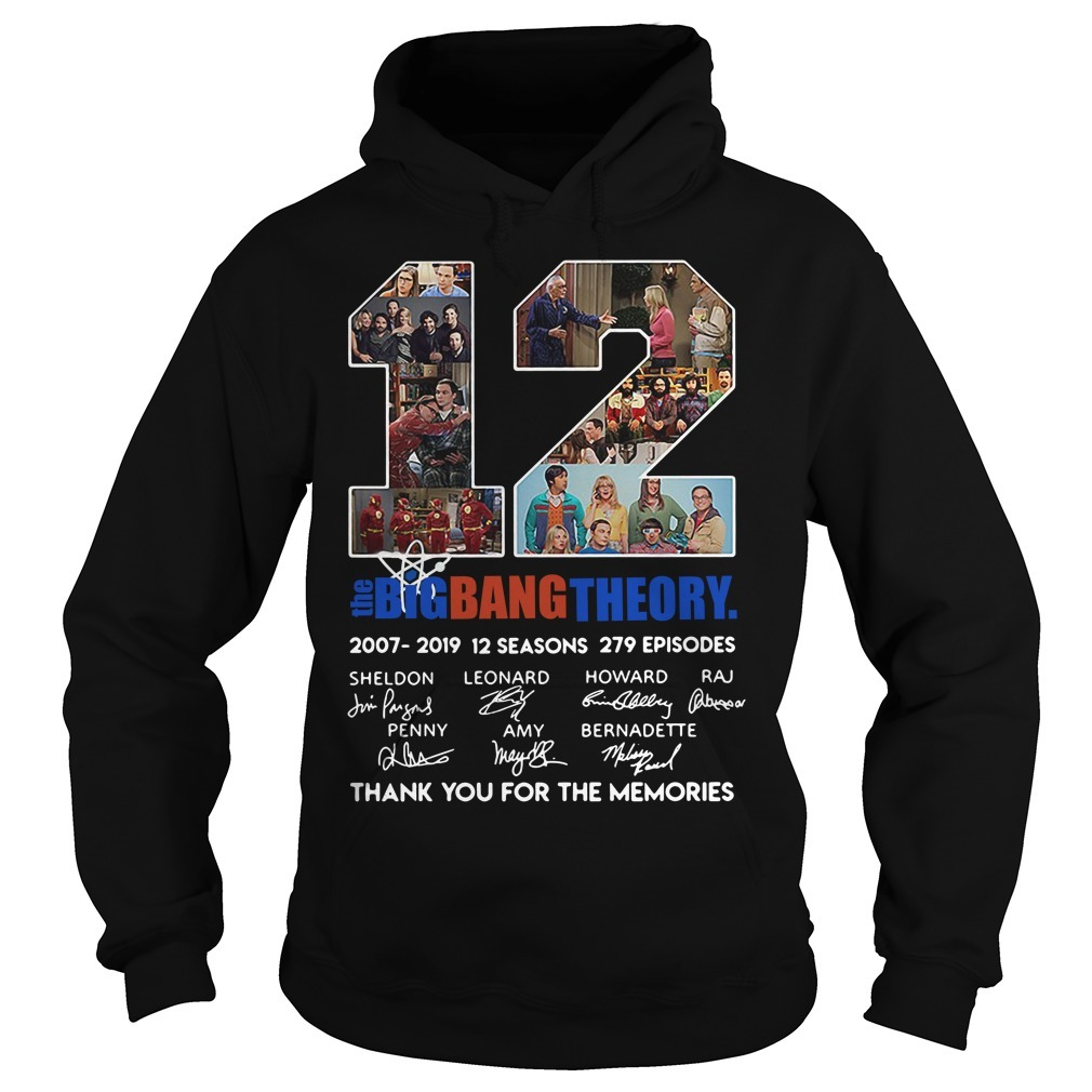12 Years the Big Bang Theory thank you for the memories signature Hoodie