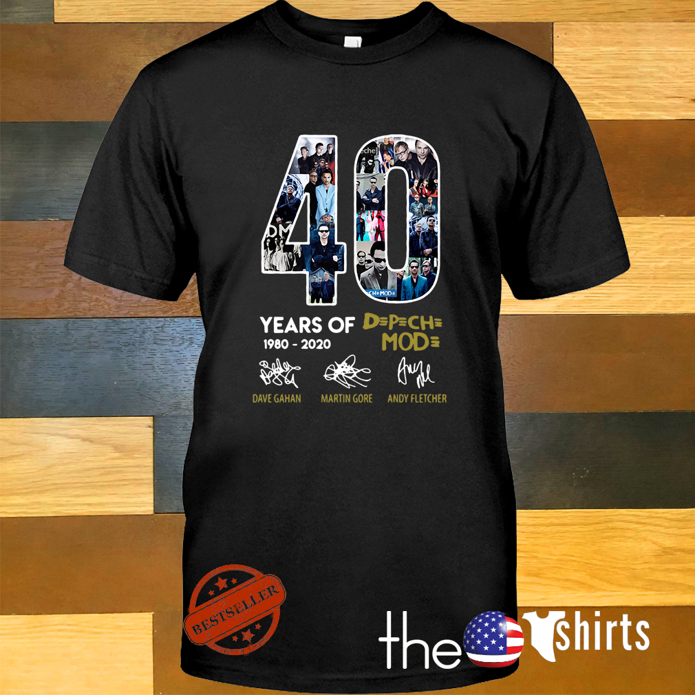 Depeche Mode Us Tour Dates 2020 40 years of 1980 2020 Depeche Mode signatures shirt and sweater