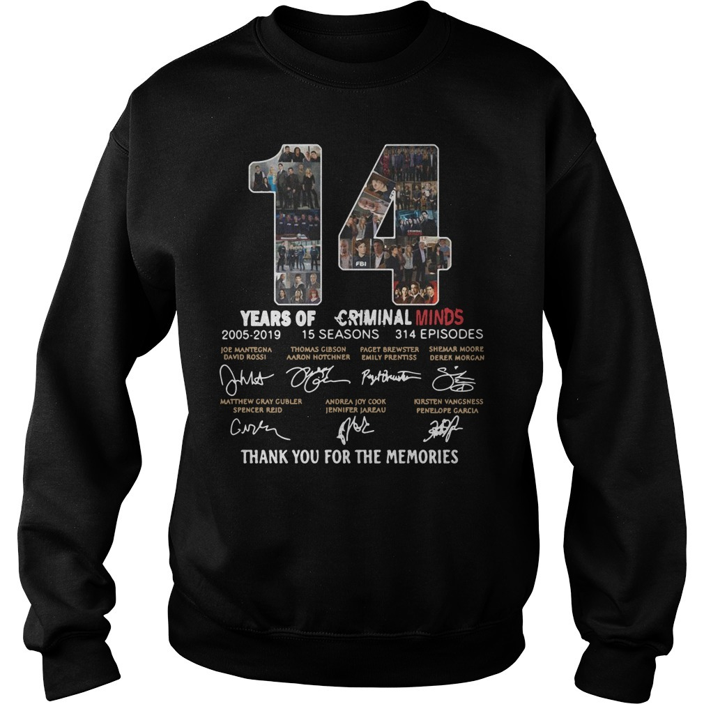 14 Years of Criminal Minds 2005-2019 thank you for the memories signature Sweater