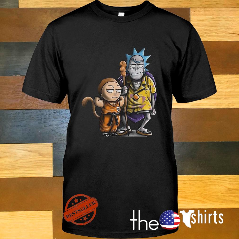 Rick and Morty dragon ball shirt