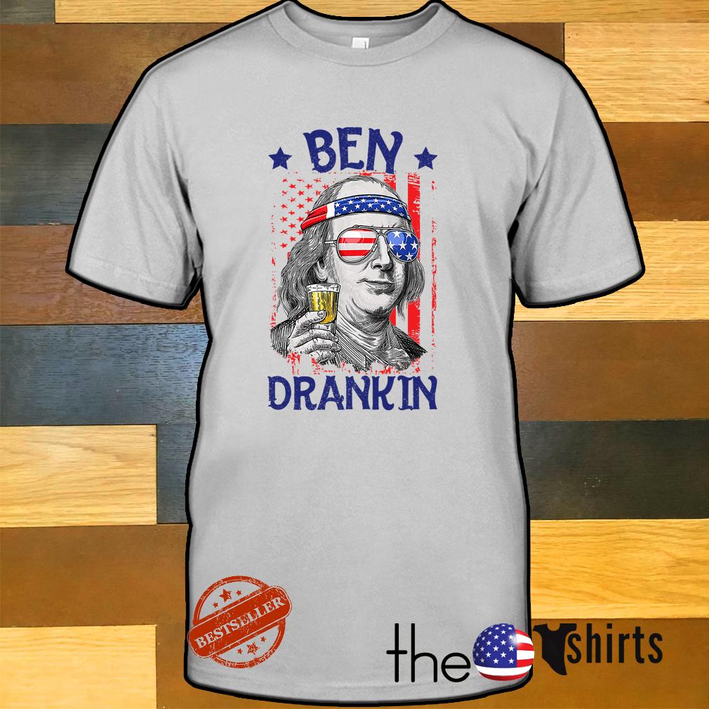 American flag beer Ben Drankin shirt