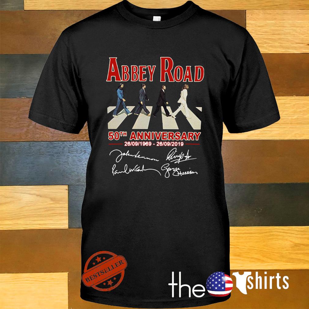 The Beatles album Abbey Road 50th anniversary 1969-2019 signature shirt