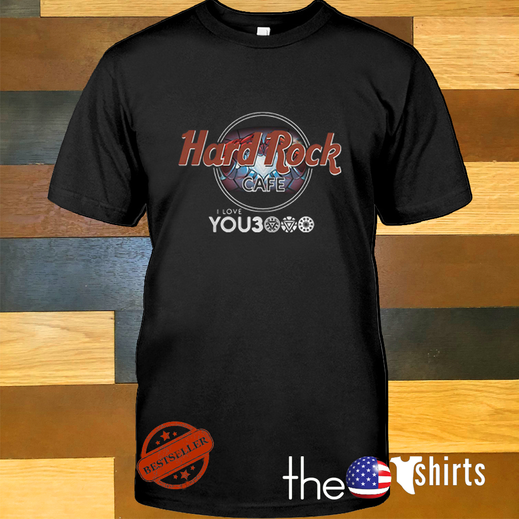 Hard Rock cafe I love you 3000 times Iron Man shirt