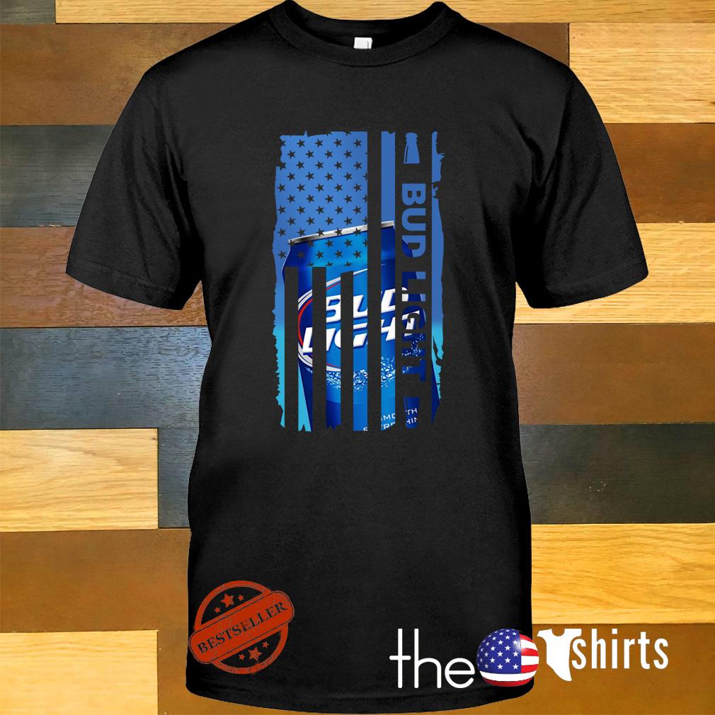 Bud Light Veteran US flag shirt