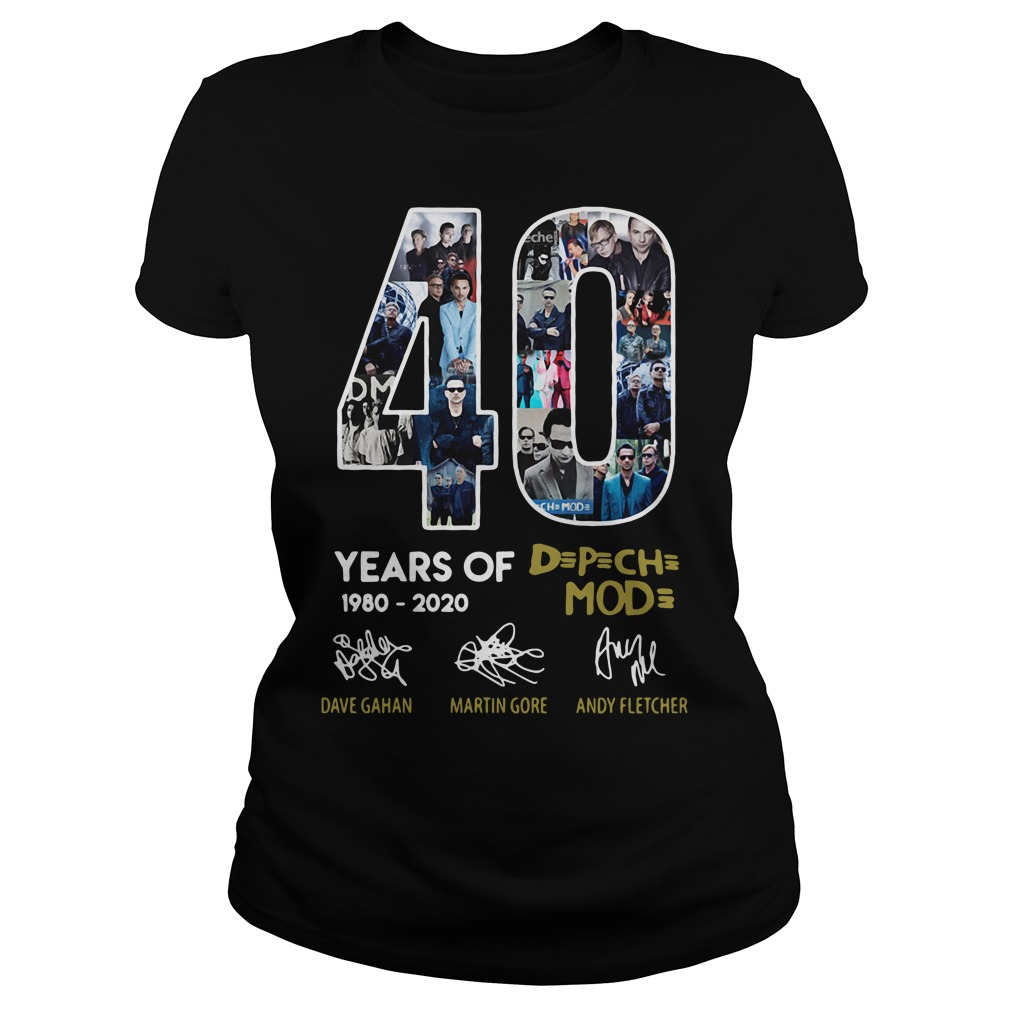 40 years of 1980-2020 Depeche Mode signatures Ladies Tee