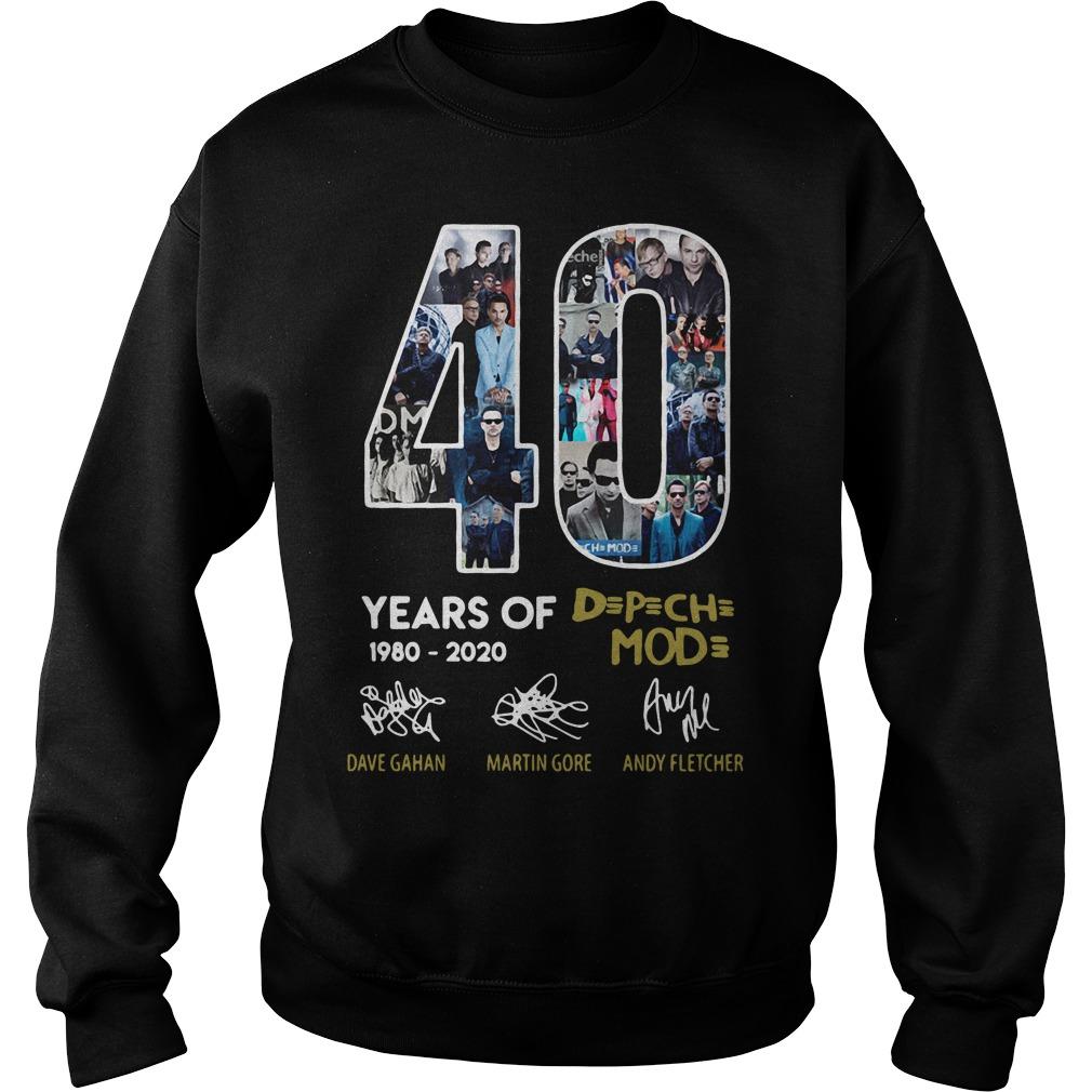 40 years of 1980-2020 Depeche Mode signatures Sweater