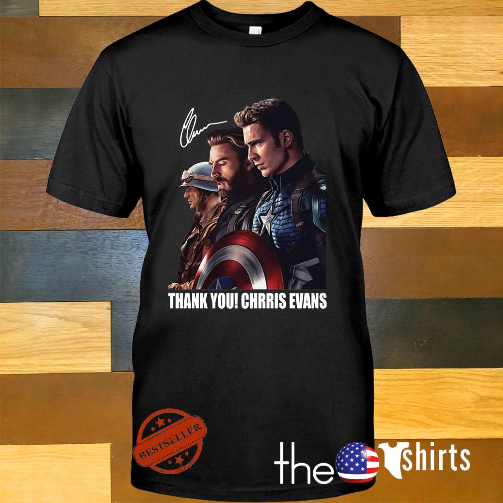 Captain America thank you Chris Evans signature shirt