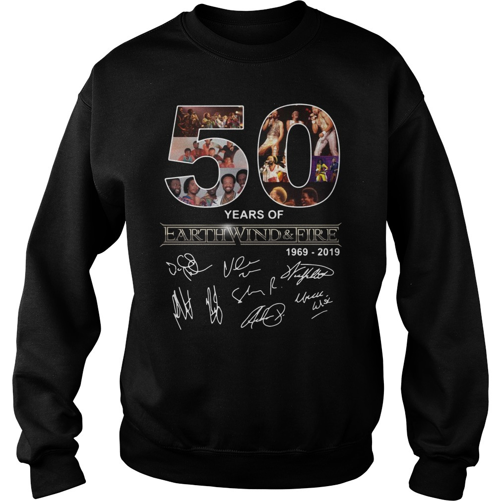 50 Years of Earth Wind and Fire 1969-2019 signature Sweater