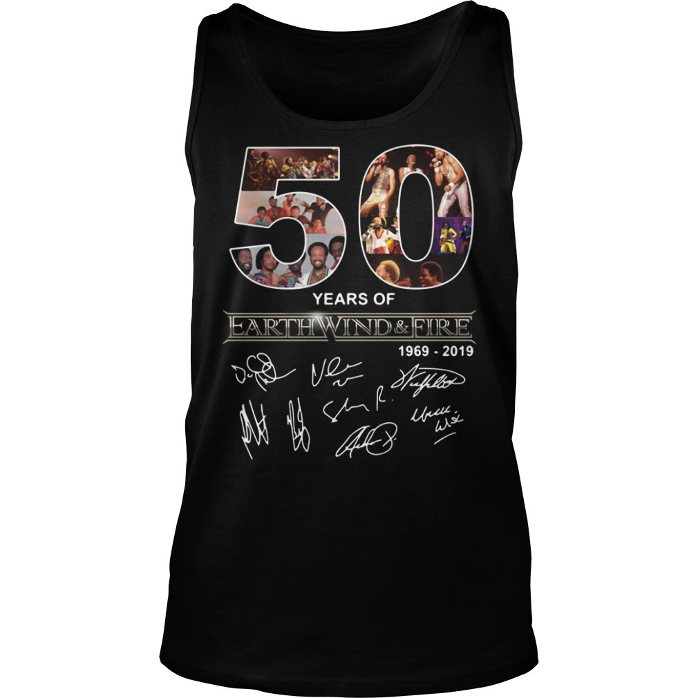 50 Years of Earth Wind and Fire 1969-2019 signature Tank top