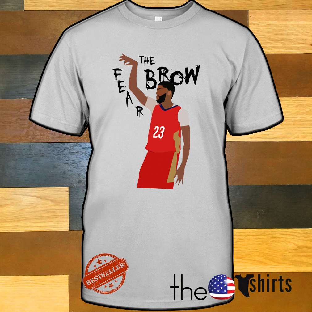 Anthony Davis fear the brow shirt