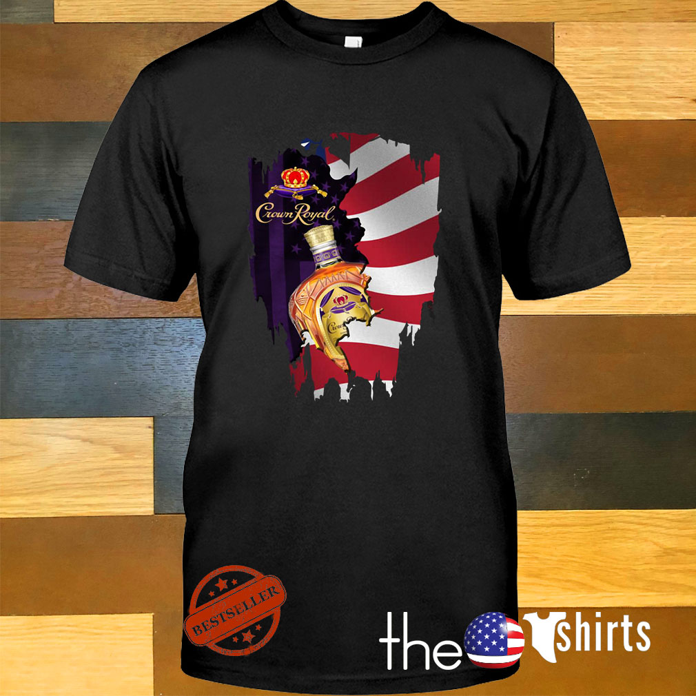 Independence day 4th of July Crown Royal America Flag shirt