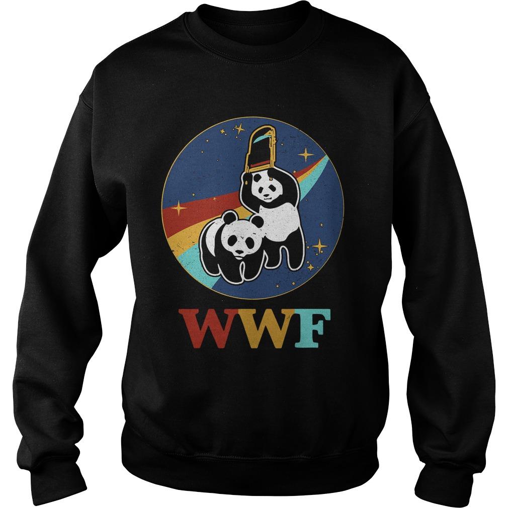 WWF panda bear wrestling NASA Sweater