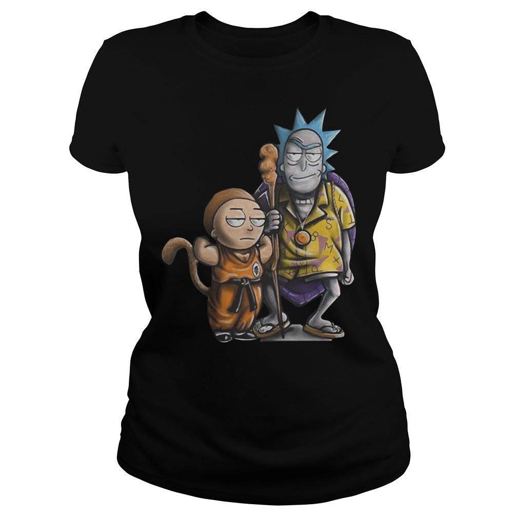 Rick and Morty dragon ball Ladies tee